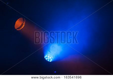 Colorful Scenic Spot Lights And Smoke