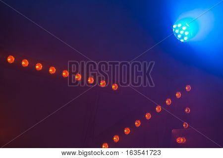 Scenic Spot Lights And Smoke, Stage Illumination
