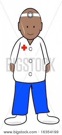 doctor or male nurse practitioner - vector illustration