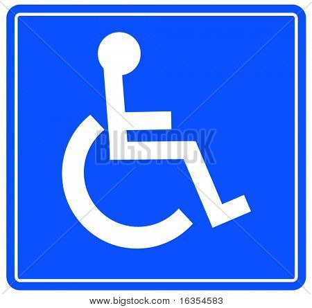blue handicap parking or wheelchair accessible sign