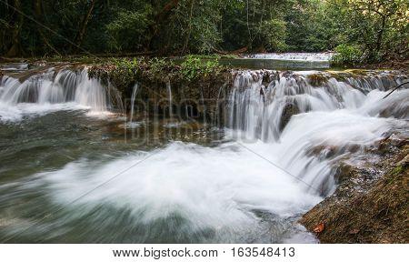Takian Thong Waterfall, Kanchanaburi Province in Thailand.