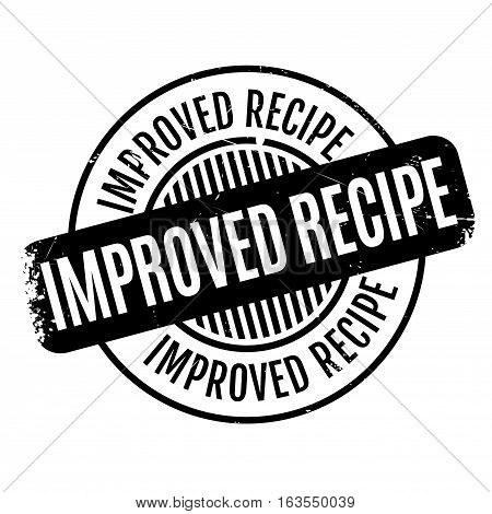 Improved Recipe rubber stamp. Grunge design with dust scratches. Effects can be easily removed for a clean, crisp look. Color is easily changed.