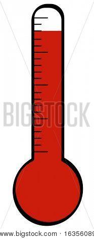 termómetro con temperatura subiendo a la cima