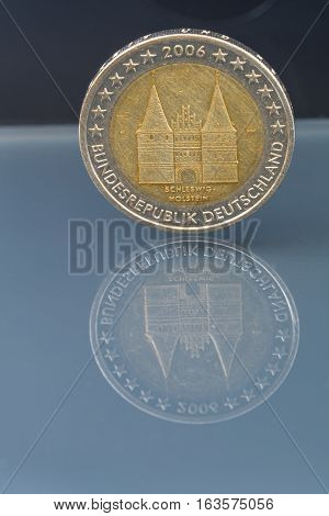 Commemorative 2 Eur Coin; Schleswig Hollstein, Germany