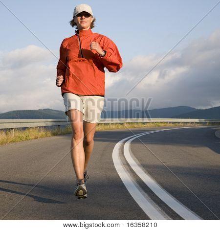 Road running.