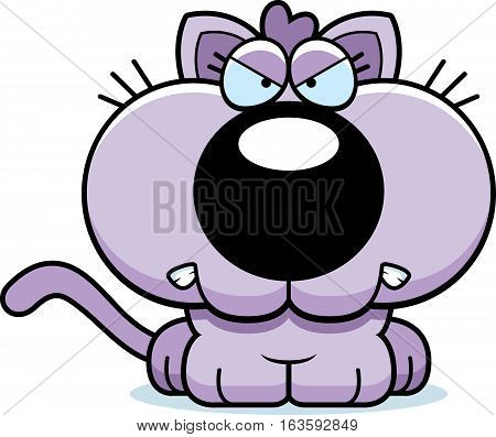 Cartoon Kitten Angry