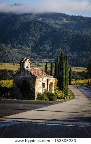 The view from Castello di Amorosa, Napa Valley