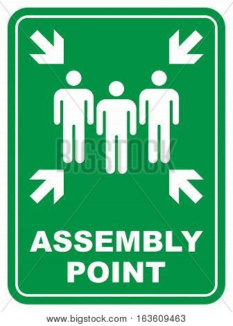 Assembly point. Vector icon isolated on white background.