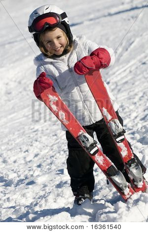 Cute ski rider