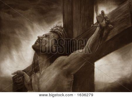 Kunst Jesus Portcross Sepia