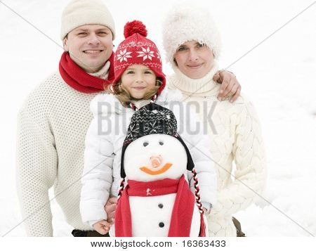 Family winter portrait