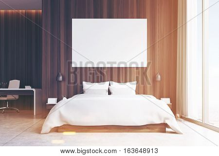 Bedroom With Study Area, Toned, Front View