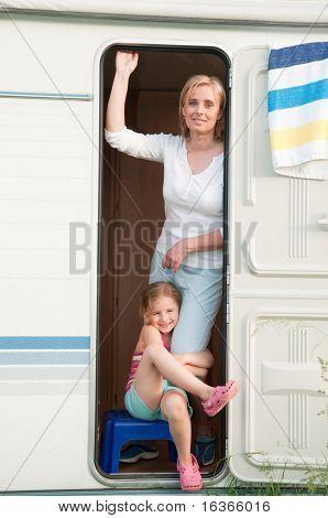 Summer vacation in camper