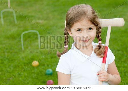 Beautiful croquet player