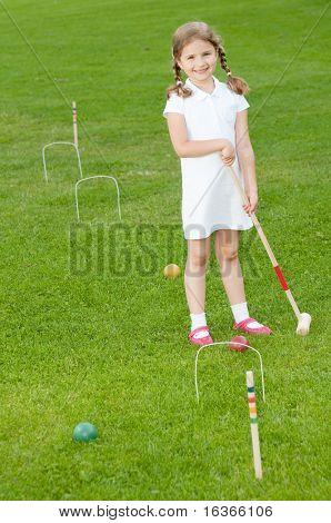 Little croquet player
