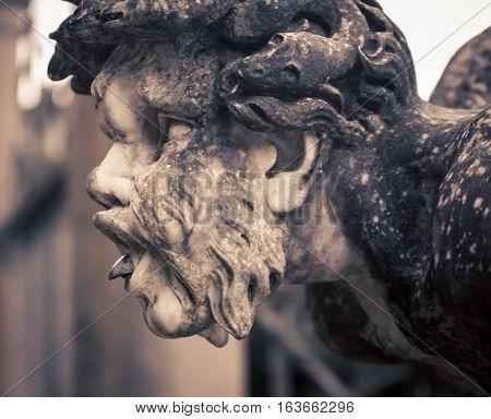 Mythical human figure in  boboli gardens florence