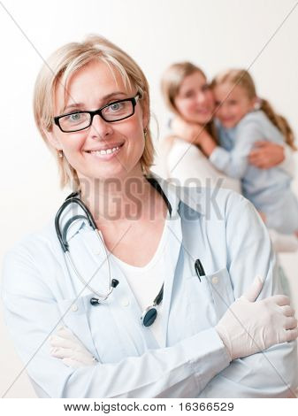 Friendly pediatrician