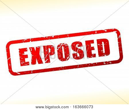 Illustration of exposed text buffered on white background