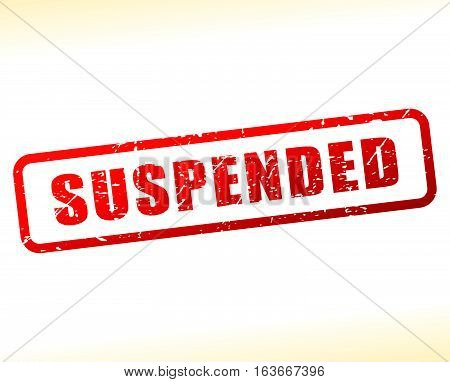 Illustration of suspended text buffered on white background