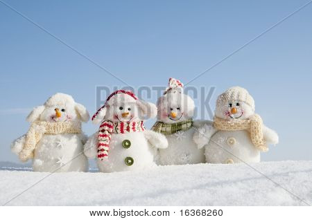 Happy winter friends (copy space)