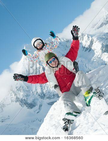 Family, ski, sun and fun