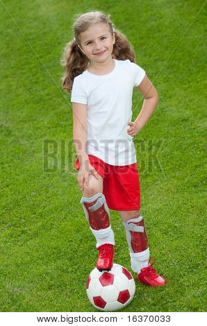 Little soccer player