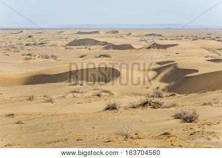 Sand dunes of Maranjab Desert in Iran