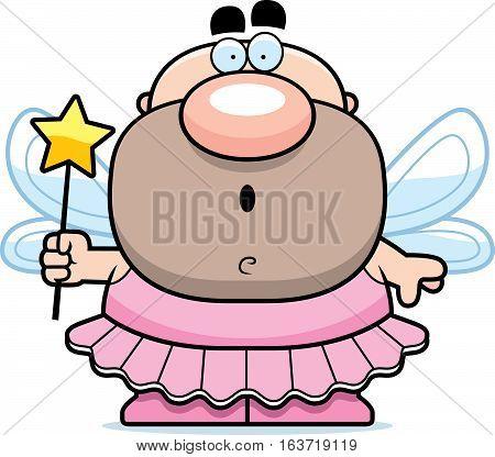 Cartoon Surprised Tooth Fairy