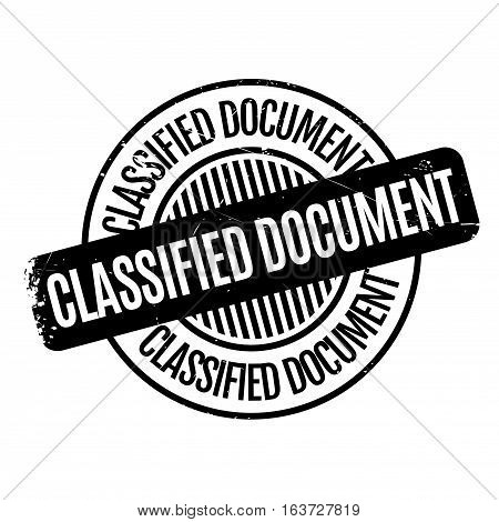 Classified Document rubber stamp. Grunge design with dust scratches. Effects can be easily removed for a clean, crisp look. Color is easily changed.