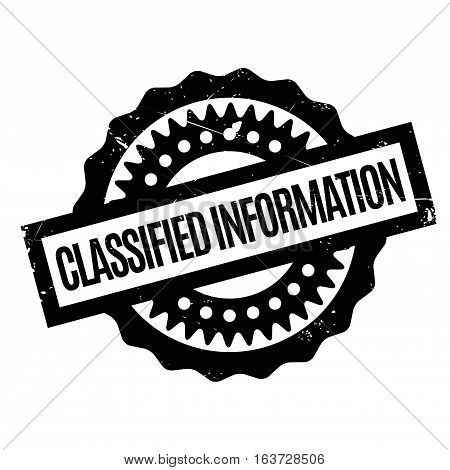 Classified Information rubber stamp. Grunge design with dust scratches. Effects can be easily removed for a clean, crisp look. Color is easily changed.