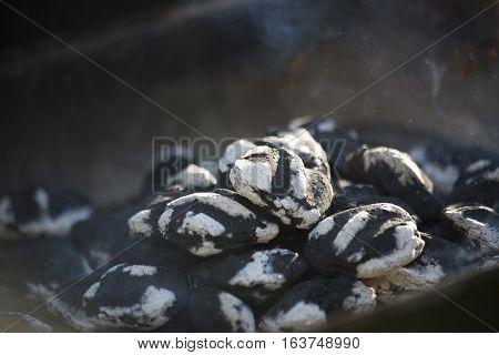 Smoking Charcoal