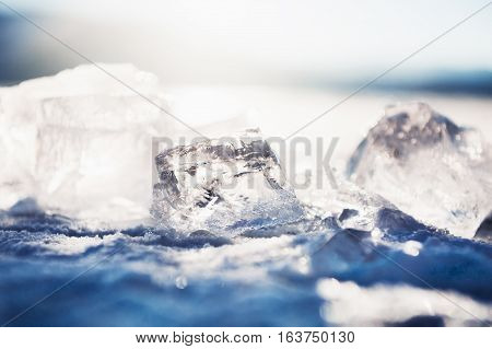 Ice On The Frozen Lake