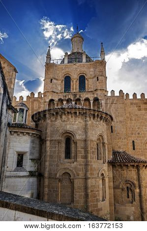 Coimbra Portugal . Monastery of the Holy Cross . The tomb of the first two kings of Portugal - Afonso I the Great and Sancho I - is a National Pantheon Portugal.