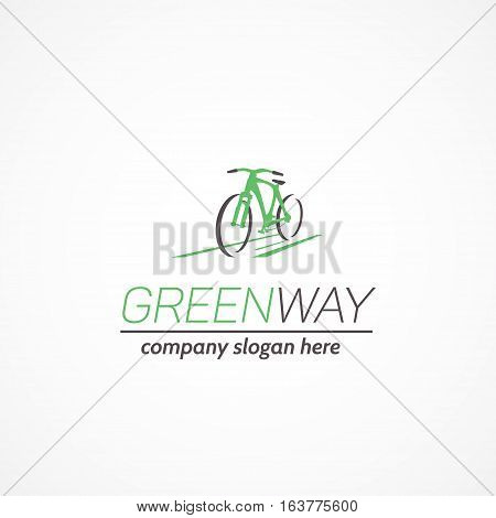 Logo on the theme of environmentally friendly transport.This logo is fully editable and resizable.