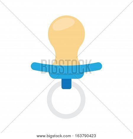 baby boy pacifier icon. Soother. vector Illustration Isolated on White Background