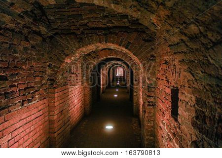 Passage in a Royal Chamber. Visit musketeer chambers of the Peter-Paul Fortress in the framework of the cultural forum in St. Petersburg.