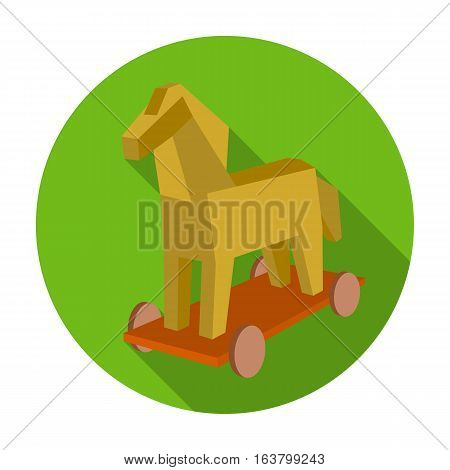 Trojan horse icon in flat design isolated on white background. Hackers and hacking symbol stock vector illustration.