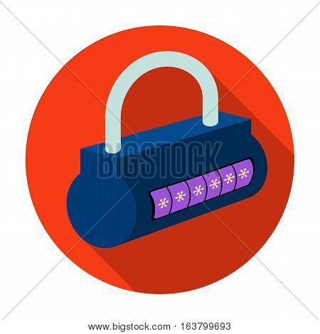 Computer password icon in flat design isolated on white background. Hackers and hacking symbol stock vector illustration.