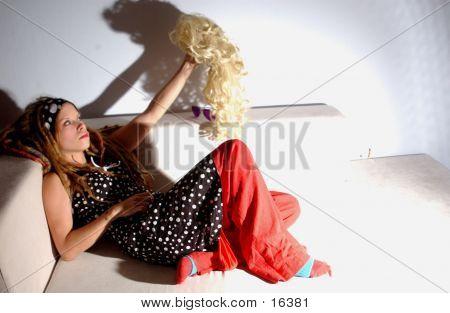 Girl On Sofa poster