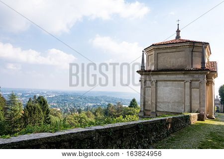 Second Chapel At Sacro Monte Di Varese. Italy