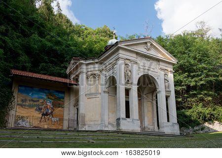Third Chapel At Sacro Monte Di Varese. Italy