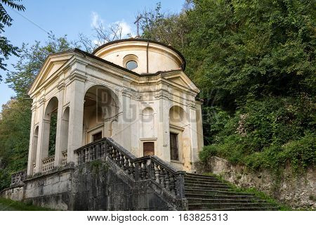 Eighth Chapel At Sacro Monte Di Varese. Italy