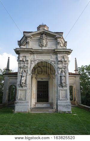 Twelfth Chapel At Sacro Monte Di Varese. Italy