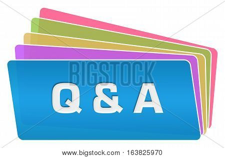 Q and A text written over blue colorful background.