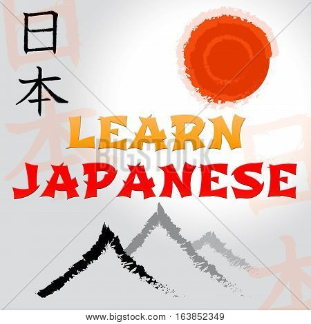 Learn Japanese Indicates Japan Language And Speech