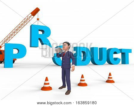 Make Product Representing Trade Manufacturing 3D Rendering