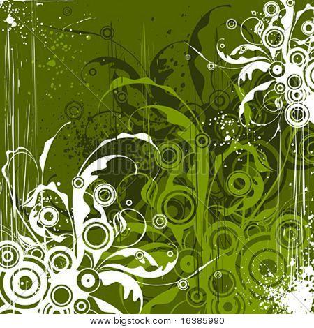 Smaragd Blumen Hintergrund