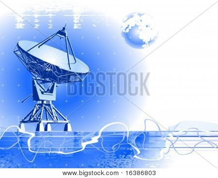 antena satelital de platos (radar de doppler)