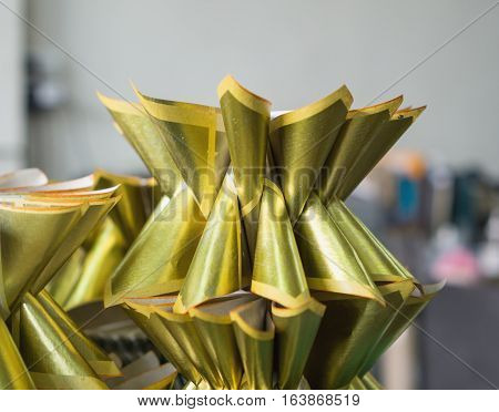 Chinese gold joss paper use for make sacrifice to gods ancestors or ghosts