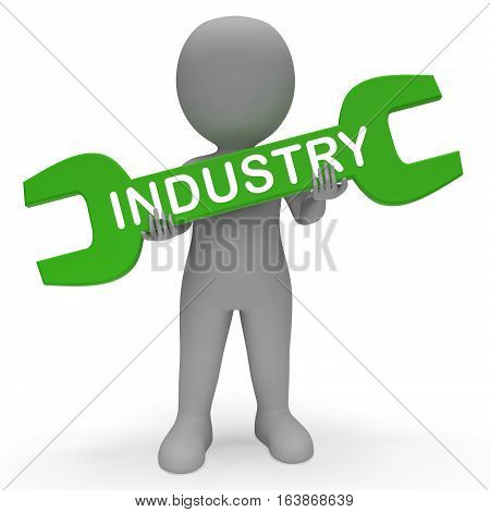 Industry Spanner Means Industrial Production 3D Rendering